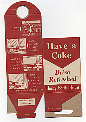 Cardboard Coca-cola Handy Bottle Holder For Your Car
