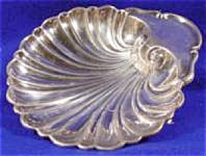Silverplate Shell Dish - Dolphin Feet