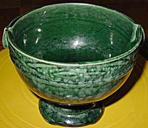 Pottery Planter - Mottled Green - Roseville ?