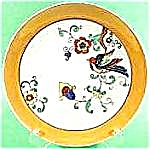 Oriental Bird Plate - Lustre Bright Colors - Japan