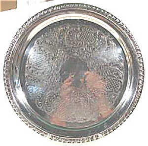 Silverplate Anniversary Tray - Happy 25th