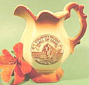 Ceramic Pitcher - Country Music Hall Of Fame