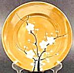 Gold Lustre Dessert Plate With Floral - Japan