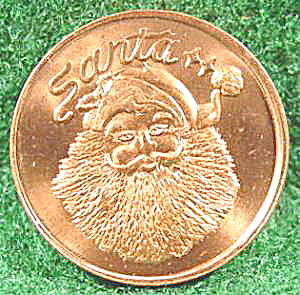 Coin Santa Claus Novelty Token