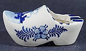 Ashtray - Hand Painted Clog Shoe - Windmill