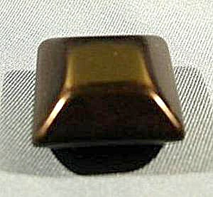 Early Plastic Square Black Button