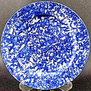 Stangl Blue Town & Coun Try Salad Dessert Plate - 8 In