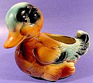 Ceramic Duck Planter - Cute As Can Be