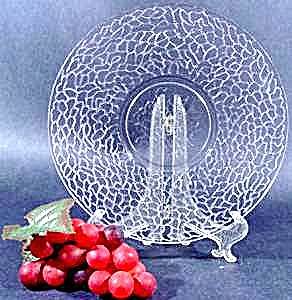 Crackle Pattern Dessert Plate - Mckee Glass - 1920s