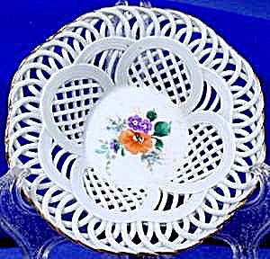 Hand Painted Reticulated Dish - Artist Signed
