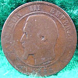France 10 Centimes Coin - 1856-b