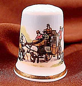 Royal Coach Thimble - Staffordshire, England