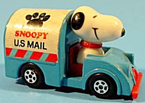 Snoopy Driving Mail Truck - Diecast Metal 1966