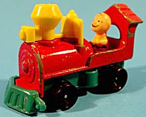 Charlie Brown Driving Diecast Train Engine - 1966
