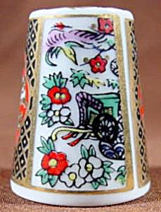 Panelled Floral Design Thimble - Tcc 1988 - Japan