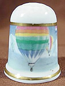 Hot Air Balloon Thimble - Coalport - England