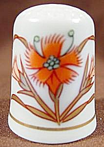 Orange & Gold Thimble - Tcc - Gold Imari - Japan