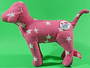 Victoria's Secret Pink Stuffed Dog With Stars