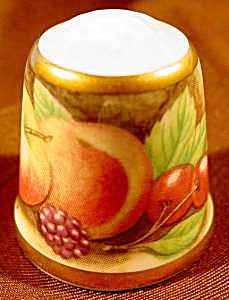 Still Life Fruits Thimble - Tcc - 1992 England