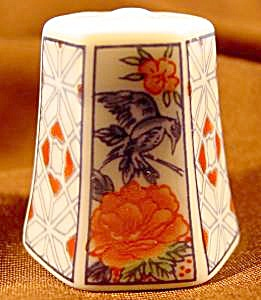 Floral Panel Six-sided Thimble - Yachiyo, Japan Tcc