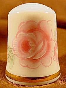 Delicate Pink Rose Thimble - Japan