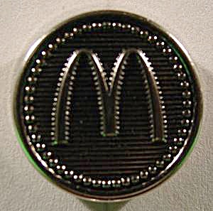 Mcdonald's Uniform Button Silvertone Metal