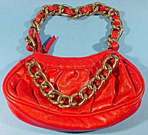 Soft Leather Handbag Purse - Red - Candies