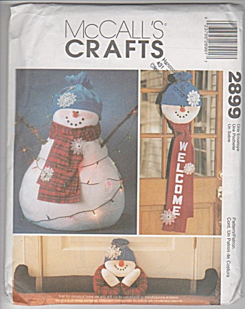 New Mccalls Crafts - 2899 Christmas Deorations