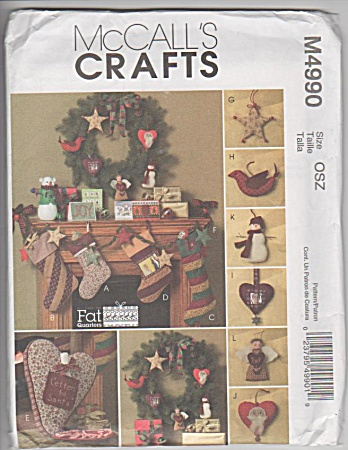 Mccall's Christmas - Made From Fat Quarters