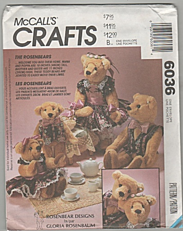 Mccalls - Rosenbear Designs - 6036 - Oop