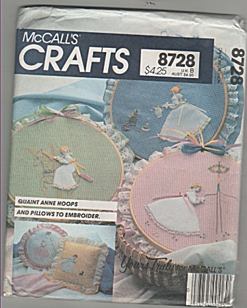 Mccall's - Sz: U.k.b - Hoops & Pillows - 8728