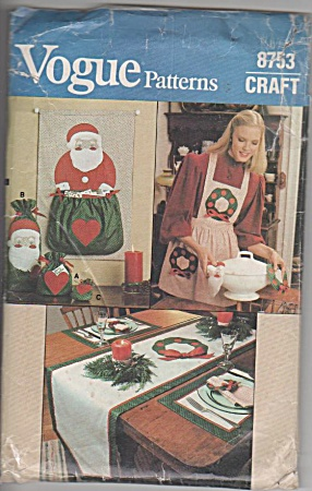 Vintage - Vogue - Christmas Apron - Decoration - 8753