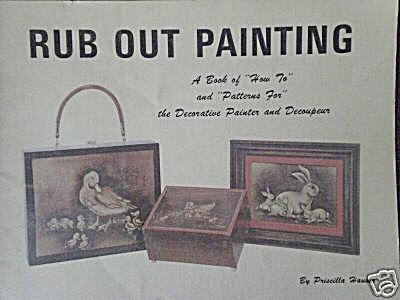 Rub Out Painting - Prisclla Hauser - 1972 - Oop