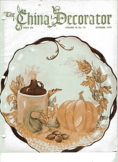 Vintage - China Decorator - October - 1973