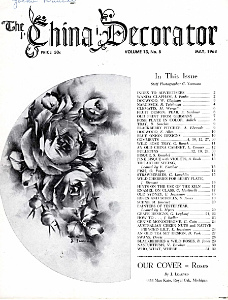 Vintage - China Decorator - May - 1968