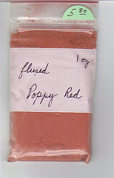 Poppy Red - China Paint - Fluxed - 1 Ounce