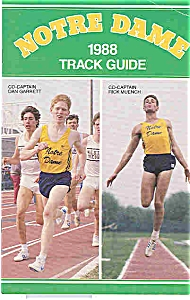 Notre Dame Track Guide 1988