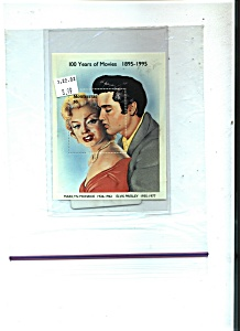 Montserrat Souvenir Stamp Sheet Of Elvis Presley & Mari