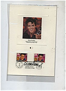 First Day Of Issue - Elvis Presley Stamp.