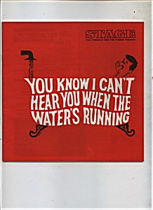 1969 Can't Hear When Water's Running Theatre Program Ad
