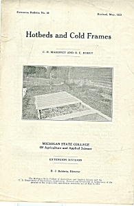 Michigan State College - Hotbeds And Cold Frames - May