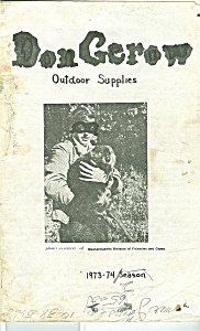 Don Gerow Outdoor Suppl;ies Catalog 1973-1974