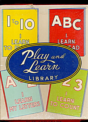1938 Play & Learn Library Activity Set - Unused