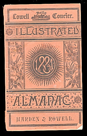 1884 Lowell Courier Almanac Magazine