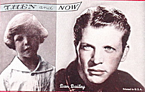 1960s Dan Dailey 'then And Now' Actor Arcade Card