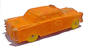 1950s Auburn Taxi 580 Orange Taxi Rubber Car