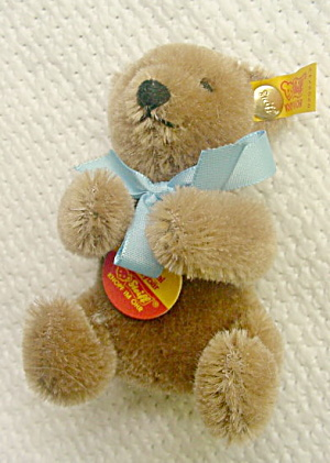 "3 1/2"" Brown Steiff Original Teddy Bear-# 0202/12"