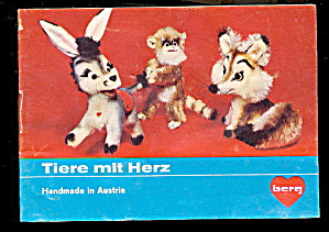 1960s-1970s Berg/steiff Austria Stuffed Animal Catalog