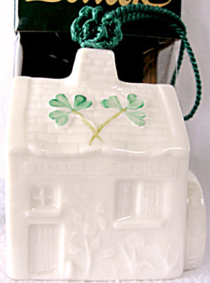 1998 Belleek Mill Christmas Ornament Mint In Box