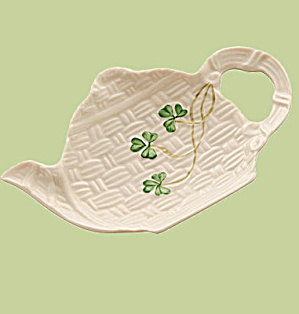 1998 Belleek Shamrock Teapot Ornament Mint In Box